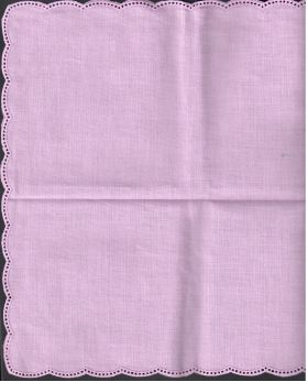 Lavender scallop edge